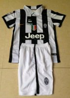 Kids Juventus 14/15 Home soccer kit(shirt+shorts)