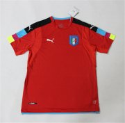 Italy Red Goalkeeper Jersey 2016 Euro