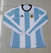 Argentina LS Home Soccer Jersey 2016