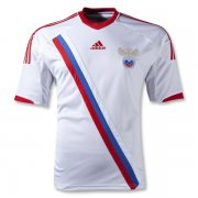 2012 Russia Away White Soccer Jersey Shirt
