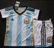 Kids 2014 World Cup Argentina Home Whole Kit(Shirt+Shorts)