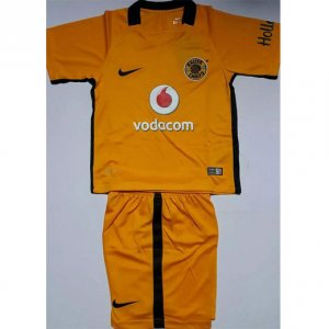 Kids Kaizer Chiefs Home Soccer Kit 16/17 (Shirt+Shorts)