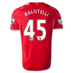 Liverpool 14/15 BALOTELLI #45 Home Soccer Jersey