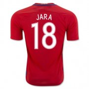 Chile Home Soccer Jersey 2016 Jara 18