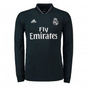 Real Madrid Away Soccer Jersey 2018/19 LS Black