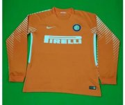 Inter Milan Goalkeeper Soccer Jersey 2017/18 LS Orange