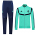 Real Madrid 19/20 Green High Neck Collar Training Kit(Jacket+Trouser)