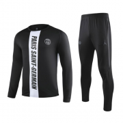19-20 PSG Black&White Sweat Shirt Kit(Top+Trouser)