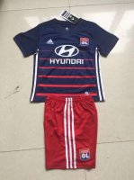 Kids LYON Away Soccer Kit 2017/18 (Shirt+Shorts)
