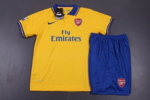 d64cbcdb8 Kids Arsenal 13 14 Away Jersey Kit(Shirt+shorts)