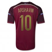 2014 Russia #10 ARSHAVIN Home Red Jersey Shirt