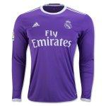 Real Madrid Away Soccer Jersey 16/17 LS