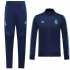 Real Madrid 19/20 Blue High Neck Collar Training Kit(Jacket+Trouser)