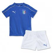 Kids Italy Home Soccer Kit 2016 Euro (Shirt+Shorts)