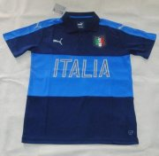 Italy Polo Shirt 2016 Euro Blue