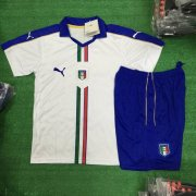 Kids Italy Away Soccer Kit 2016 Euro (Shirt+Shorts)