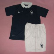 Kids 2014 World Cup France Home Whole Kit(Shirt+Shorts)