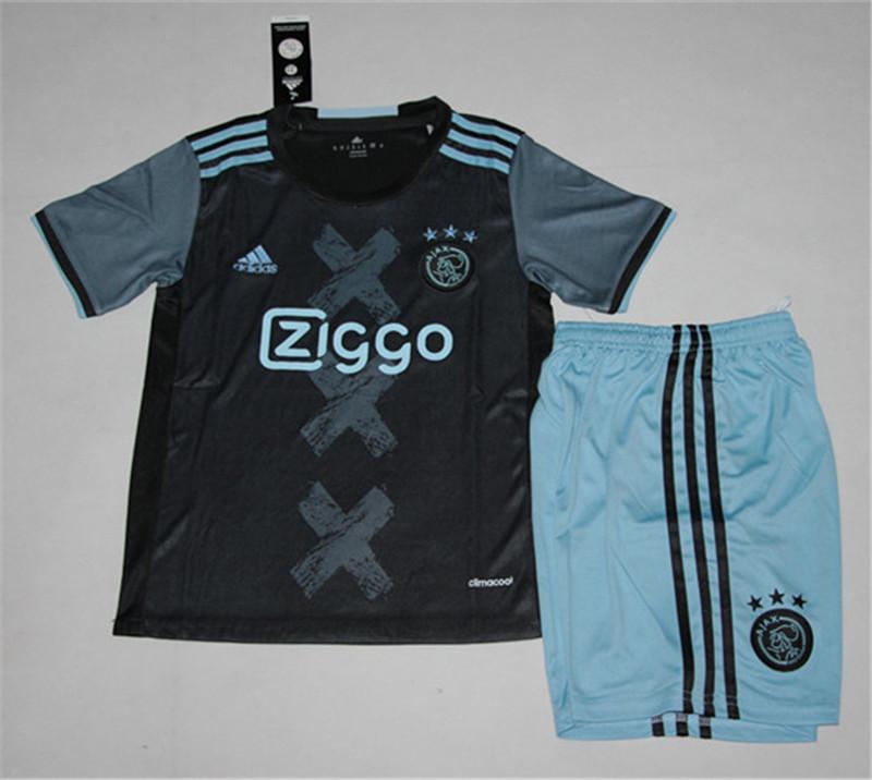 cff5fb378 Kids Ajax Away Soccer Kit 16 17 (Shirt+Shorts)
