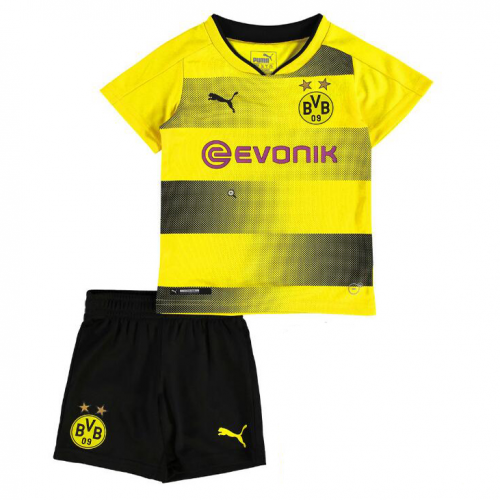 Dortmund Home Soccer Suits 2017/18 Shirt and Shorts Kids