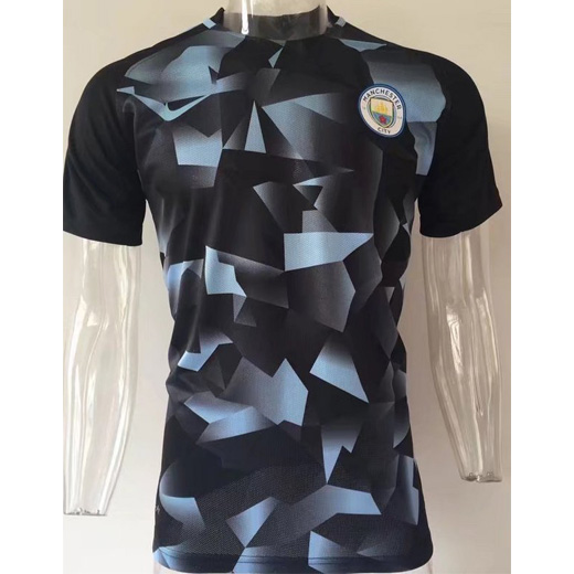 reputable site 73938 f0cee Manchester City Pre-Match Training Shirt 2017/18 Black Blue ...