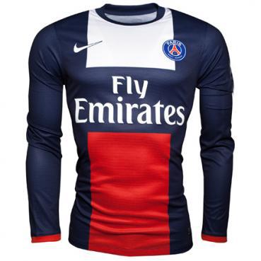 finest selection c4bf9 afa57 13-14 PSG Home Long Sleeve Soccer Jersey Shirt | Paris St ...
