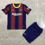 Children Barcelona Home Soccer Suits 2020/21 Shirt and Shorts