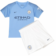 Kids 18-19 Manchester City Home Jersey Kits
