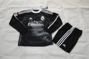 Kids Real Madrid 14/15 Black Away Soccer Kit(Shirt+Shorts)