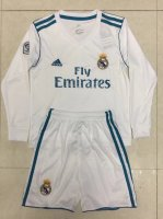 Real Madrid Home soccer suits 2017/18 shirt and shorts Kids LS