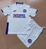 Children Cruz Azul Away White Soccer Suits 2019/20 Shirt and Shorts