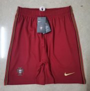 Portugal Home Red Soccer Shorts 2020