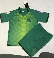 Children Real Sociedad Away Green Soccer Suits 2019/20 Shirt and Shorts