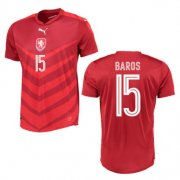Czech Republic Home Soccer Jersey 2016 15 Baros