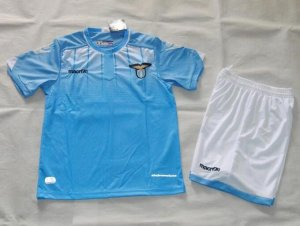 Kids Lazio Home Soccer Kit 2015-16(Shirt+Shorts)