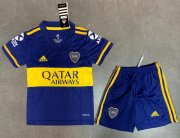 Children Boca Juniors Home Soccer Suits 2020/21 Shirt and Shorts