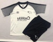 Children Derby County Home Soccer Suits 2019/20 Shirt and Shorts