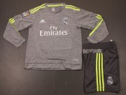 Kids Real Madrid Away Long Sleeve Kit 2015-16(Shirt+Shorts)