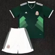 Kids Mexico Home Soccer Kit 2018 World Cup (Shirt+Shorts)