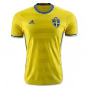 Sweden Home Soccer Jersey 2016 Euro