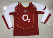 Retro Arsenal Long Sleeve Home Soccer Jerseys 2004/05