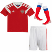 Kids Russia Home Soccer Kit 2018 World Cup (Shirt+Shorts+Socks)