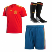 Kids Spain Home Soccer Kit 2018 World Cup (Shirt+Shorts+Socks)