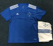 Children Cruzeiro Home Soccer Suits 2020 Shirt and Shorts