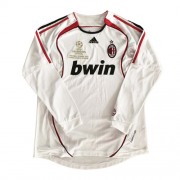 06-07 AC Milan Away White Long Sleeve Retro Jerseys Shirt