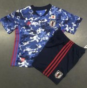 Children Japan Home Soccer Suits 2020 EURO Shirt and Shorts