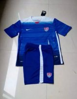 Kids USA Away Soccer Kit 2015-16(Shirt+Shorts)