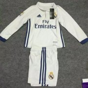 Kids Real Madrid Home Kit 16/17 Long Sleeve (Shirt+Shorts)