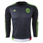 Mexico LS Home Soccer Jersey 2015-16 Black
