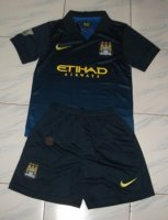 Kids Manchester City 14/15 Away Soccer Kit(Shirt+shorts)