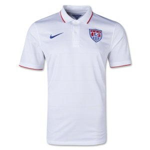 2014 World Cup USA Home White Soccer Jersey